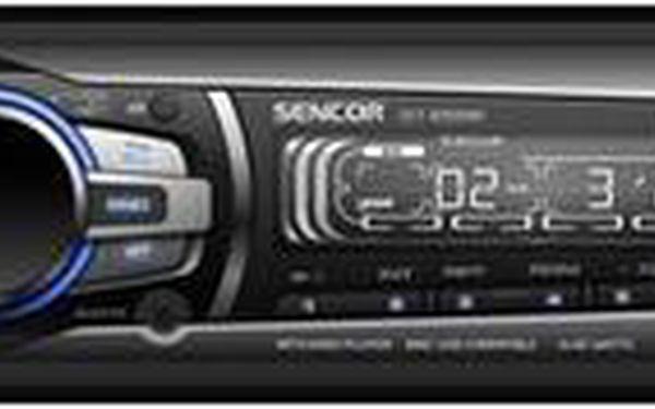 Autorádio Sencor SCT 4055MR s přehrávačem z USB i paměťové karty