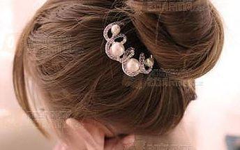 Elegantní doplněk do vlasů s perlami a poštovné ZDARMA! - 9999921263