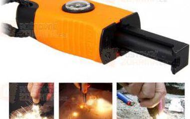 Podpalovač ohně s kompasem a píšťalou a poštovné ZDARMA! - 9999921258