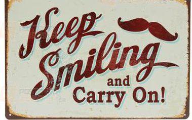 Retro cedule Keep smiling a poštovné ZDARMA! - 9999921193