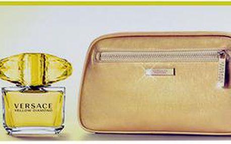 Toaletní voda Versace Yellow Diamond Edt 90ml + 100ml tělové mléko + kosmetická taška