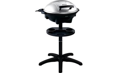 Elektrický stojanový a stolní gril 2v1 Sencor SBG 7003 SL ve stříbrné barvě