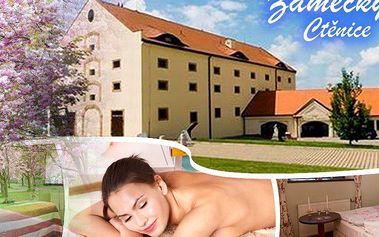 Pobyt pro dva na 2-3 dny v Zámeckém hotelu Ctěnice, degustační menu, masáže, koupele, láhev sektu aj