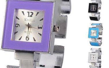 Čtvercové náramkové hodinky - 6 barev - 9999904463