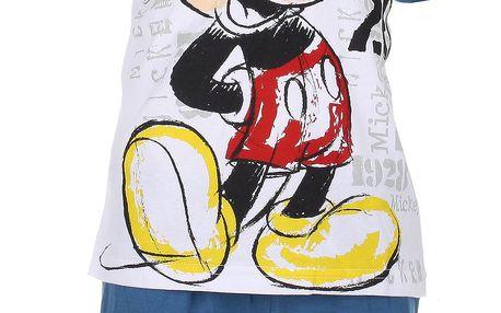Chlapecký bílý set Mickey Mouse - tričko a kraťasy
