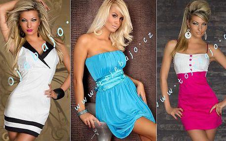 Dámské letní šaty, 3 druhy na výběr