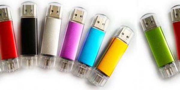 32 GB OTG flash disk se dvěma konektory – 8 barev: Mějte svá data vždy při sobě!