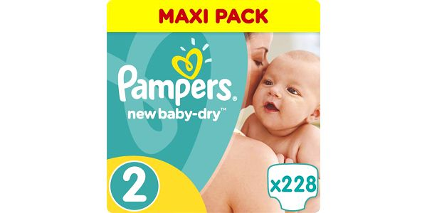 Pampers Active New Baby 2 Mini Plenky Velikost 2 (Mini) 228ks
