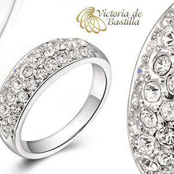 Elegantní prsten Victoria de Bastilla vykládaný zirkony