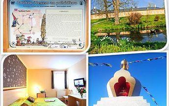 Turistická bomba pro milovníky historie, meditace a naučných stezek! 4-denní pobyt pro dva v RELAX HOTELU. Hrady, zámky, galerie, muzea, naučné stezky, přírodní park a cyklostezky. Ubytování pro dva na 3 noci, bohatá bufetová snídaně, 1x tříchodové menu p