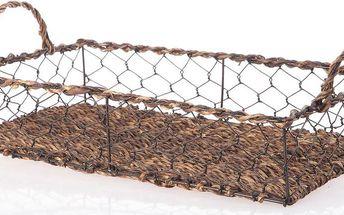 Proutěný podnos Wicker Rectangle, 39 cm