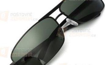 Tmavé sluneční brýle s kovovými obroučkami a poštovné ZDARMA! - 9999921413