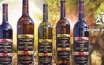 6 láhví osobitých vín z vinařství Milan Kosík
