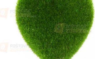 Dekorace srdce - zelená a poštovné ZDARMA! - 9999921399