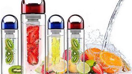Lahev na vodu s infuzérem na ovoce