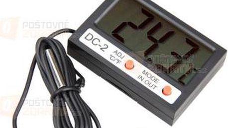 Digitální mini teploměr s LCD displejem a poštovné ZDARMA! - 9999921352
