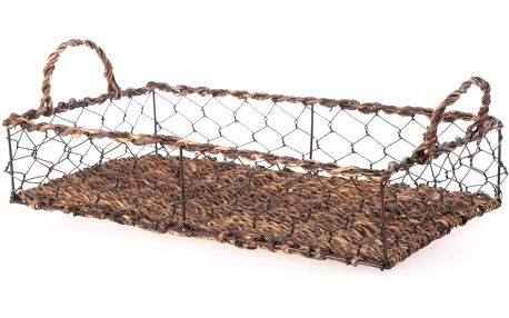 Proutěný podnos Wicker Rectangle, 39 cm