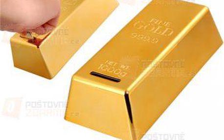 Zlatá cihla - kasička a poštovné ZDARMA! - 9999921358