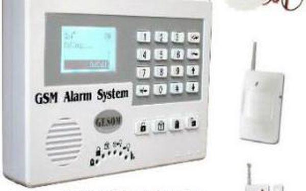 GSM Alarm GESOM pro váš bezpečný a klidný domov včetně poštovného.