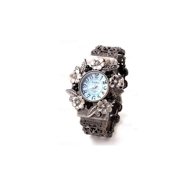 Kovové vintage náramkové hodinky a poštovné ZDARMA! - 9999921436