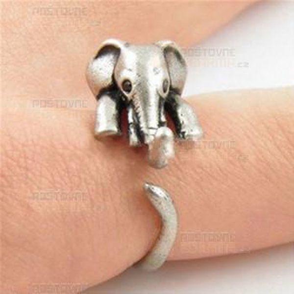 Vintage prstýnek slon a poštovné ZDARMA! - 9999920579