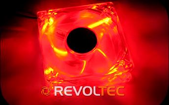Revoltec 120mm LED - Ultra red - Skladem