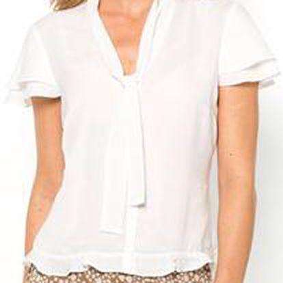 Pěkná polyesterová saténová halenka Anne Weyburn