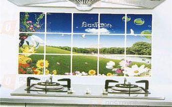Samolepka do kuchyně - vzor rozkvetlá louka a poštovné ZDARMA! - 9999921460