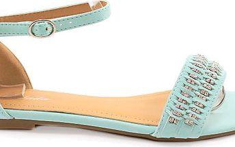Semišové sandálky Y425BL Velikost: 38