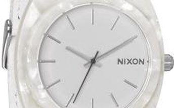 Nixon Hodinky Time Teller Acetate Leather White Granite