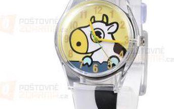 Dívčí hodinky s motivem kravičky a poštovné ZDARMA! - 9999921483