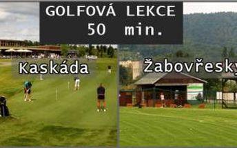 Chcete zapracovat na golfovém švihu, nebo si jen vyzkoušet golf s trenérem? Využijte 44% slevu na trénink 50min, u golfového profesionála Lukáše Horáka v Brně. Platí pro 1-3 osoby.