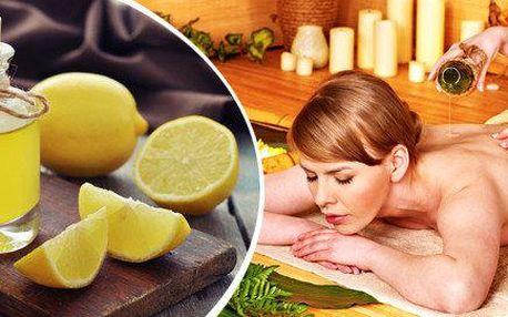 Jarní citrusové masáže horních či dolních končetin