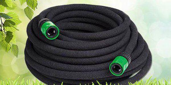 Zavlažovací odkapávací zahradní hadice, která šetří vodu!