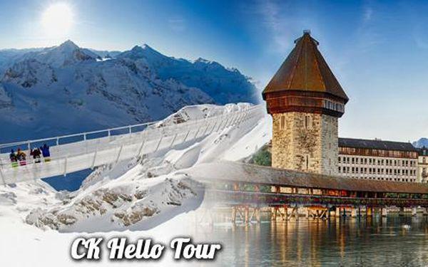 Luzernu a visutý most na Titlisu