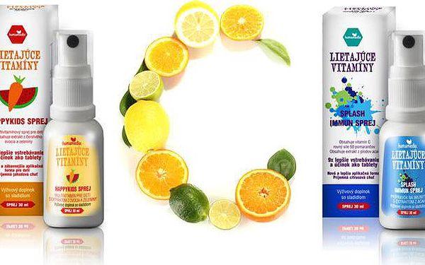 Vitaminová bomba ve spreji Splash Immun a Happy Kids vhodná pro děti