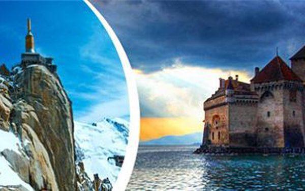 Víkendový zájezd: Ženevské jezero, vinice v Lavaux, Ženeva a Savojské Alpy.