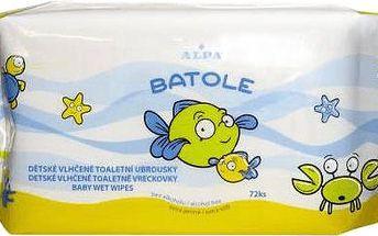 ALPA BATOLE Dětské toaletní vlhčené ubrousky s aloe vera 72 ks