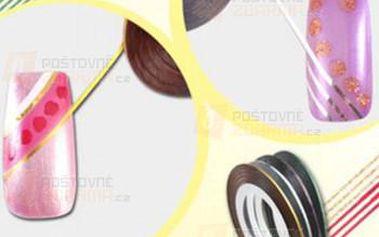 Ozdobná páska na nehty - 10 kusů a poštovné ZDARMA! - 9999921579