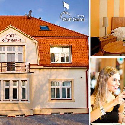 3denní pobyt pro 2 osoby v Mikulově v hotelu Golf Garni***, děti do 6 let zdarma, infrasauna.
