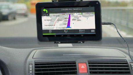 """Superrychlá 7"""" ANDROID GPS navigace s televizí"""