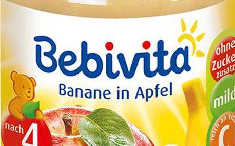 BEBIVITA Jablka s banánem (190g) - ovocný příkrm