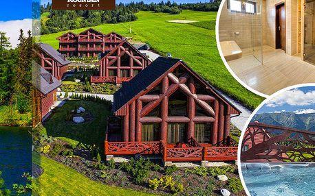 3 nebo 4 dny pro 4 osoby v luxusní chatě Mountain Resort v obci Ždiar. 4 děti do 5 let zdarma!!