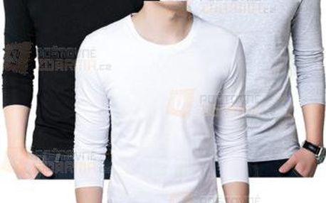 Stylové pánské triko s dlouhými rukávy a poštovné ZDARMA! - 9999921502