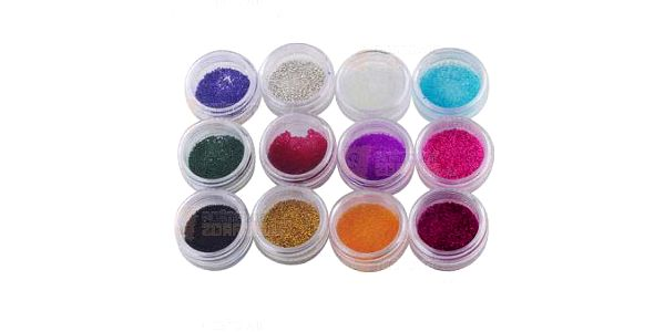 12 barevných mini korálků na nehty a poštovné ZDARMA! - 9999921564
