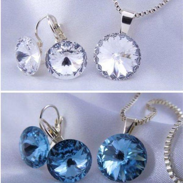 Set šperků Elisa Swarovski Elements z chirurgické oceli!