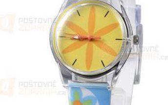 Nádherné dívčí hodinky s motivem kytiček a poštovné ZDARMA! - 9999921639