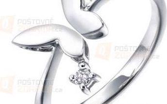 Elegantní stříbrný prstýnek s motýlem a poštovné ZDARMA! - 9999921582