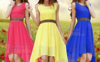 Šifónové letní šaty v mnoha barvách a poštovné ZDARMA! - 9999921604