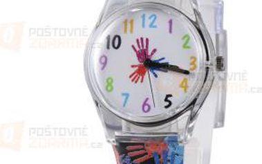 Dívčí hodinky s motivem obtisknutých dlaní a poštovné ZDARMA! - 9999921677